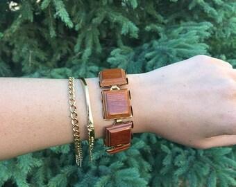 SALE 50% off - vintage 1960's-70's wooden bracelet