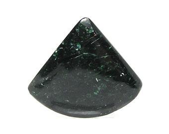 Chrome Green Fuchsite Mica Sparkly Semiprecious Gemstone Cabochon, Loose stone jewel, natural handcrafted gem