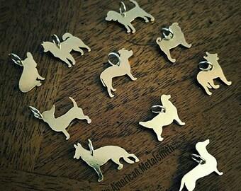 Brass Dog Charms