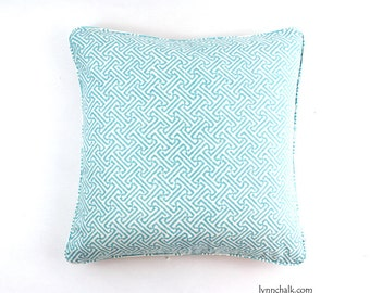 Quadrille China Seas Java Java Pillows (shown in New Blue on White-comes in 24 colors)