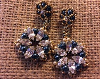 Beadwoven Earrings - Stardust