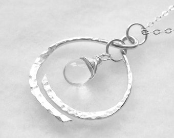 Infant Loss Necklace, Remembrance Necklace in Sterling Silver - Miscarriage, Stillbirth, Memorial Necklace