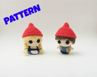 Amigurumi Gnomes Pattern, Crochet Gnome Pattern, Crochet Amigurumi Pattern, Amigurumi Doll Patterns, Crochet Doll Patterns, Toy Patterns