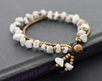 Howlite 2 Strand Bracelet