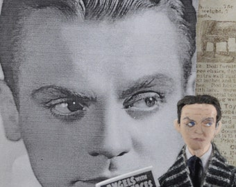 James Cagney Movie Star Miniature Celebrity Art Doll Famous Actor Old Hollywood