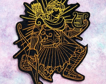 Apollo Greek God Iron On Embroidery Patch MTCoffinz - - Choose Size / Color