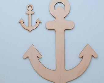 Wood Anchor Cut Out, DIY Unfinished Anchor Ornament, Unfinished Anchor, Laser Cut Anchor, Nautical Wedding Decor, Beach Wedding