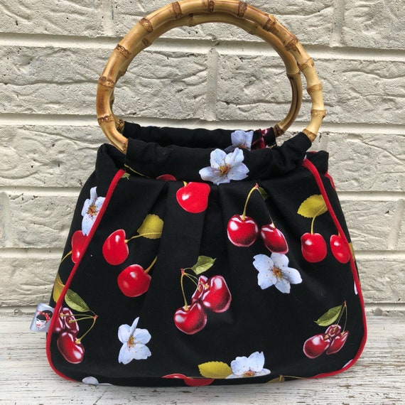 Limited Edition Cherry Handbag Rockabilly Pinup 1950's Inspired