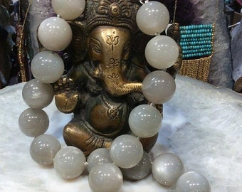 50% Mega Sale Grey Moonstone Gemstone Necklace