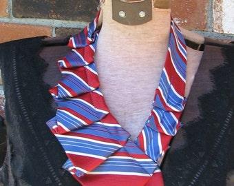 Necktie Necklace - Silk Ascot - Women's Ascot -OOAK necklace