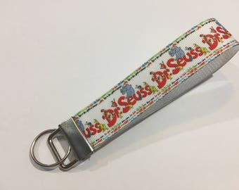 Inspired by Dr Seuss and Horton the Who Key Fob Keychain wristlet