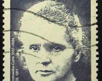 Maria Sklodowska Curie 1867-1934 -Handmade Framed Postage Stamp Art 22404AM