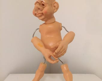 Sale! DORF ELF DOLL, Bend Me, Pose Me, Any Way You Want To! Christmas Elf, Elf On A Shelf, at A Vintage Revolution