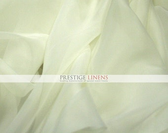 "10 YARDS 30 ft Voile Fabric 118"" Wide - Sheer Voile Drape Drapery Fabric Chiffon Fabric - IVORY"