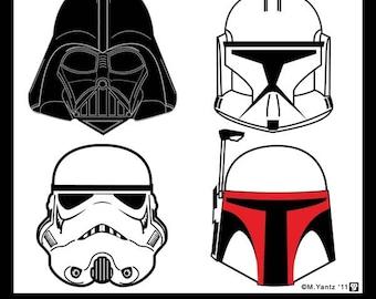 Star Wars Helmet Safety 11 x 14 print