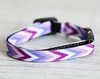 Сhevron Cat Collar Purple Chevron Collar Purple Cat Collar Chevron Collar Safety Cat Collar Geometric Collar Breakaway Cat Collar Trendy Cat