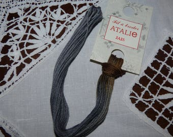 Embroidery FLOSS stranded Jet colour ATALIE