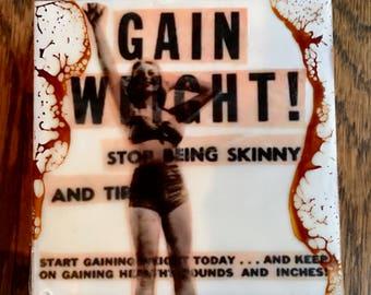 original encaustic painting-Gain Weight