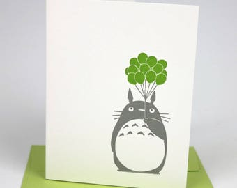 Totoro Birthday Letterpress Card