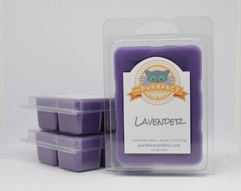 Lavender Scented Wax Melt - Lavender Scented Wax Tarts - Lavender Scented Wax Cubes - Lavender Wax Melts - Lavender Melts - Flameless Candle