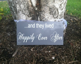 And they lived Happily Ever After SignHere Comes the Bride Sign - Uncle Here Comes Your BrideWedding Signs  Wedding Signage  Wedding Signs