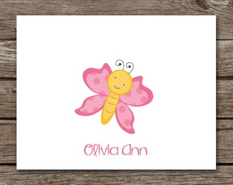 PRINTABLE Butterfly Note Cards, Butterfly Cards, Butterfly Stationery, Stationary, Personalized Note Cards