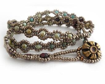 Bohemian Blossom Bracelet Tutorial by Carole Ohl