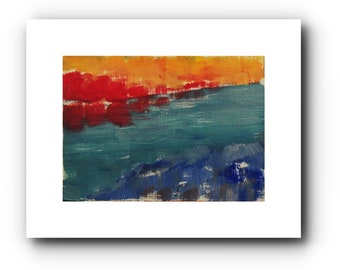 Miniature landscape, 9 x 12 cm, oil painting, original