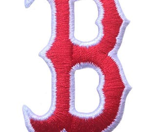 """Boston Strong Logo Size 2"""" Embroidered Iron On Patch."""