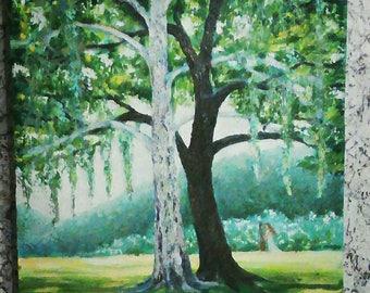 Landscape, painting, original painting