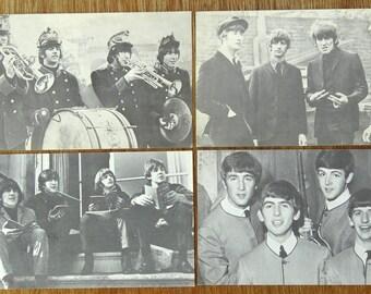 Early Beatles Arcade Cards. Four cards.