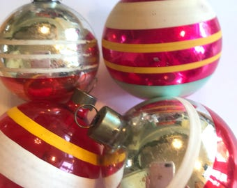 Shiny Brite, Shiny Brite Ornaments, Vintage Shiny Brites, Christmas Tree Ornaments, Ornaments