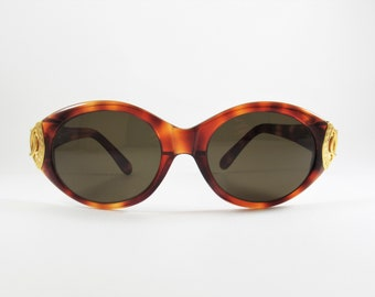 Vintage Sunglasses, Oversized Sunglasses, Tortoise Sunglasses, Women Sunglasses, Retro Sunglasses, Sunglasses Women, made in Italy, 1980s