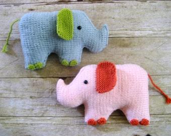 Amigurumi Knit Elephant Pattern Digital Download
