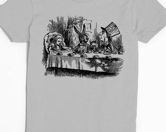 Alice in Wonderland T-shirt - Women's Shirt - Graphic Tee for Women - Mad Hatter Tea Party Tee - Alice in Wonderland - Lewis Carroll Shirt