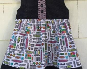 Computer Dress   Binary Dress   Science Dress   Girls Who Code   Science Birthday   Stem Clothing   Nerd Gift   Baby Gift   Toddler  