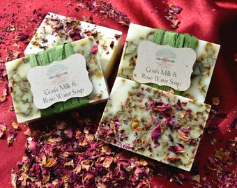 Goat's Milk & Rose Water Soap, goat milk soap, rose water, rosewater, rosewater soap, holistic soap, gift for her, mother's day gift, rose