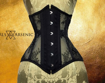 Pearls & Arsenic : Black Lace Mesh Underbust
