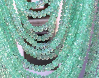 20 tiny beads size 1.5-2.5 mm  beautiful quality of natural columbian emerald facet roundel beads