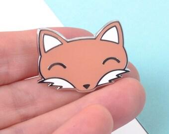 Cute Fox Enamel Pin - Cute Pins - Lapel Pin - Stocking Filler