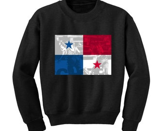 Russia World Cup 2018 Graphic Sweatshirt PANAMA Flag Football Team Soccer