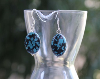Bright African Turquoise earrings