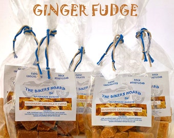 Ginger Fudge - Handmade Fudge - Handmade Confectionery, Fudge, Made in Devon, Edible Gifts, Sweet Treats, Food Gifts, Sweets, Holiday Gifts