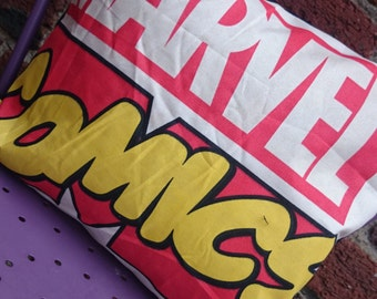 Marvel comics 14x14 Pillow Cushion Cover Upcycled Eco friendly