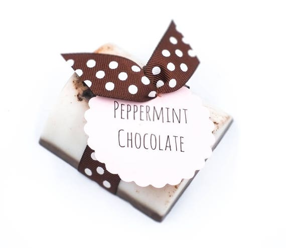 Peppermint Chocolate Soap Bar | 4oz | Rich Blend of Mocha and Peppermint | PAMPER YOURSELF with this  Zero Calorie Treat
