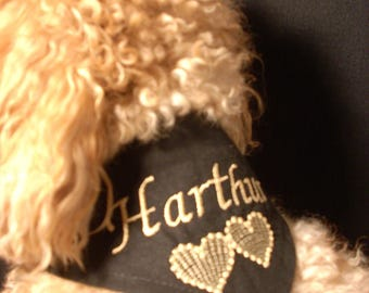 Scarf tie black to be personalized for your dog size XXS-XS-S