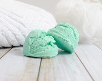Eucalyptus Mint Bubble Bath Scoop - Solid Bubble Bath Scoop - Spearmint Eucalyptus Bubble Bar Scoop - Mint Scented Bubble Bath Scoop