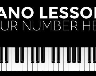 Piano Lessons Custom Banner