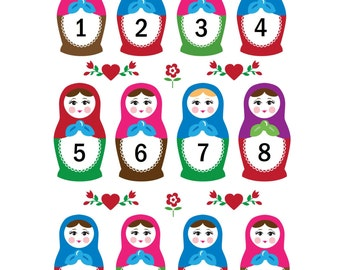 Babushka / Russian Doll Learn to Count Poster