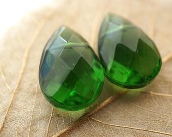Emerald Teardrops, Teardrop Beads,  Beads